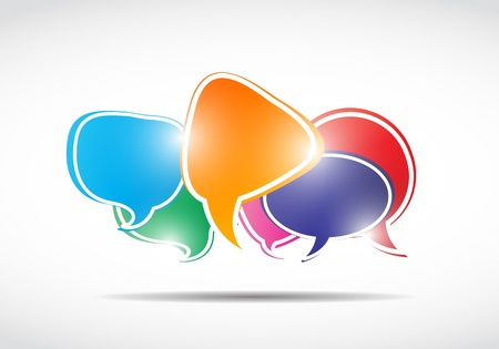 shiny speech bubbles concept Stock Vector - 15745910