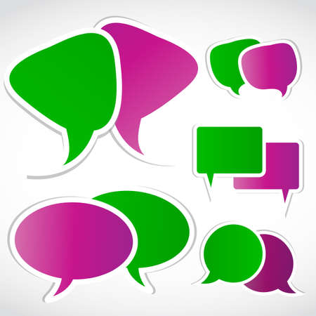 speak bubble set, vector Stock Vector - 15745861