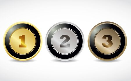numbering: 1 2 3 brilliant button numbers Illustration
