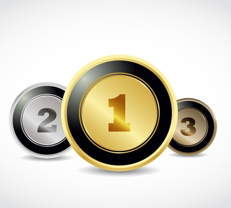 3d button medals Vector