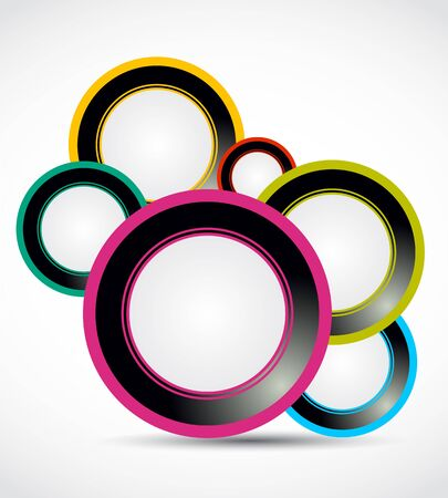 Abstract colorful circles Vector