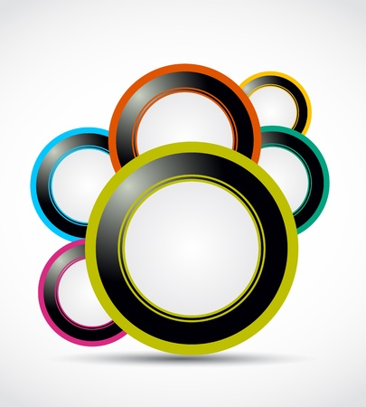 abstract web circle background Stock Vector - 15745926
