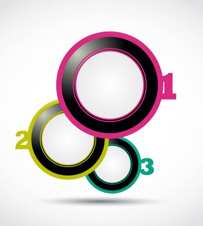 abstract colorful 1, 2, 3 circles Vector