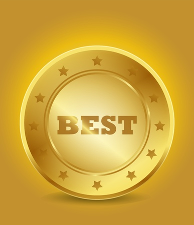 golden best tag Stock Vector - 15746008