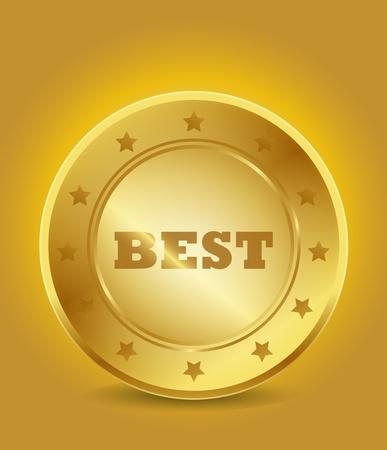 golden best tag Stock Vector - 15746008