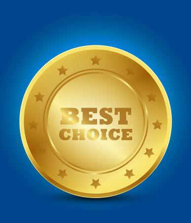 best choice golden label Stock Vector - 15746050