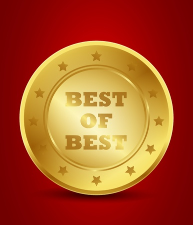 golden best of best seal Vector