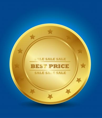 Golden Best Practice Symbol Stock Vector - 15746046