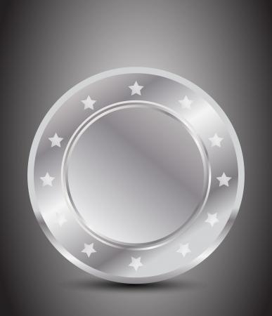 blank silver award Vector