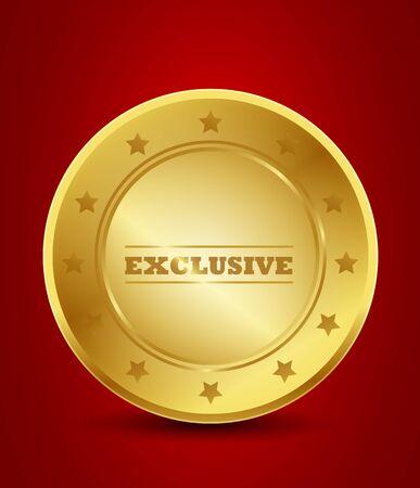 especially: golden exclusive seal Illustration