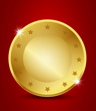 blank brilliant gold seal Vector