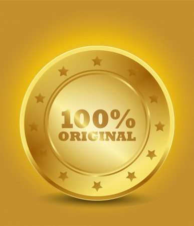 golden 100  original seal Stock Vector - 15746076
