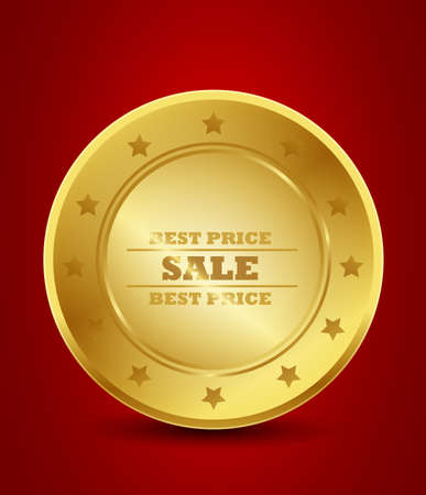 gold best price sale seal Vector