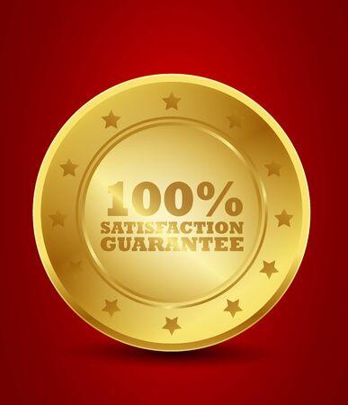 zufriedenheitsgarantie: 100 Satisfaction Guarantee Golden Seal