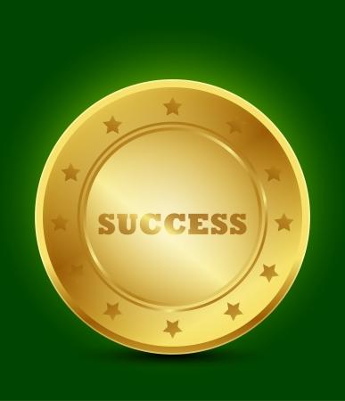 first prize: golden success symbol
