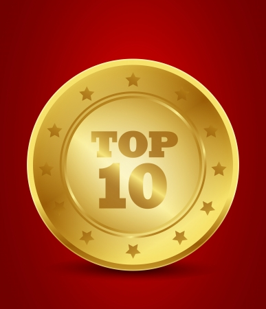 golden top ten Vector