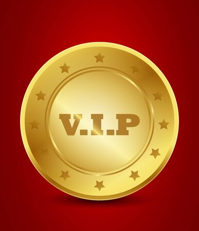 golden vip label Stock Vector - 15746005