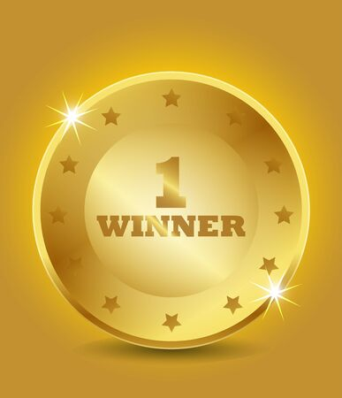1st winner award Vector