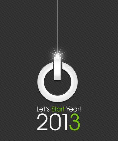 2013 christmas ball made from power button Stock Vector - 15821014