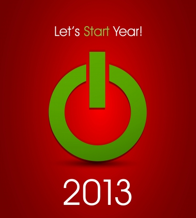power button for year 2013 Vector