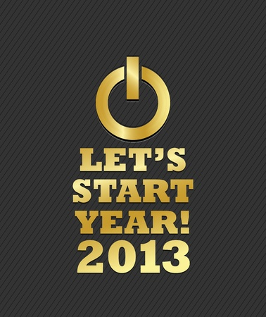 Let s Start Year 2013 Stock Vector - 15821011