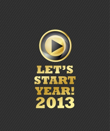 2013 New Year Start Switch Vector