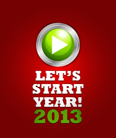 2013 start button concept Stock Vector - 15821028