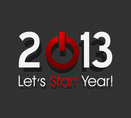 new year 2013 starts Vector