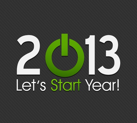 Start New Year 2013 Vector