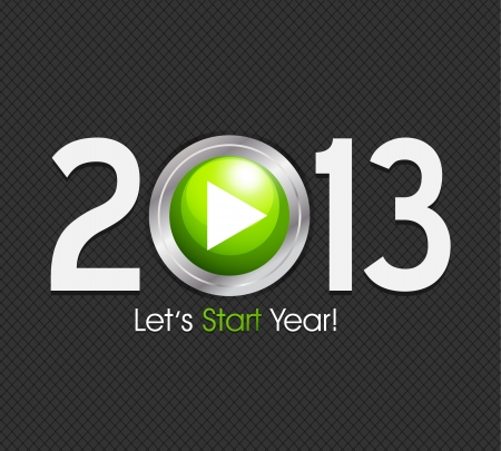 New Year 2013 start button Vector