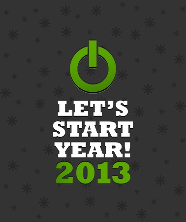 New Year 2013 Power Button Vector