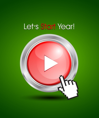 starting a new year concept Vector