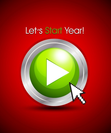 let s start year concept Stock Vector - 15821032
