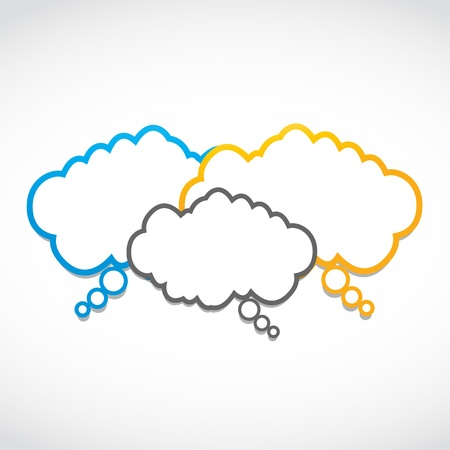 logo marketing: seminar speech clouds Illustration