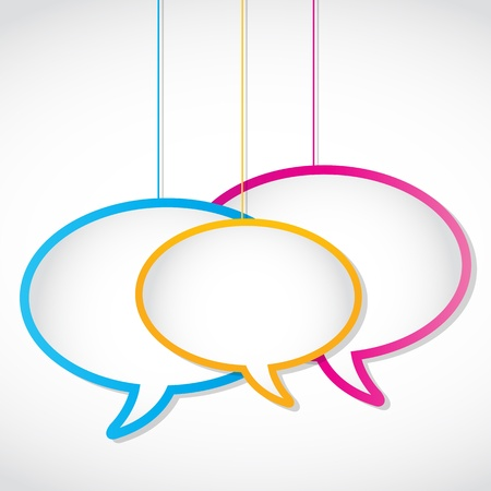 social media network speech bubbles