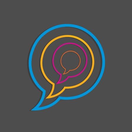 Speech clouds logo Stock Vector - 15874465