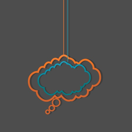 social media hanging speech clouds Vector