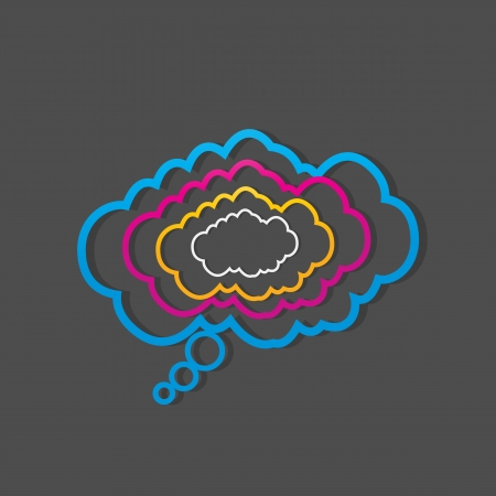 colorful dialog speech clouds Vector