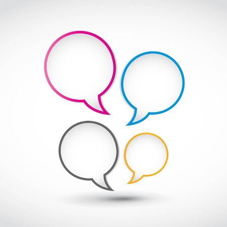 option speech bubbles Vector