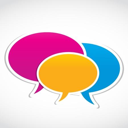 social media group speech Stock Vector - 15874423