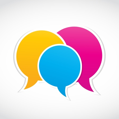 conversation dialog stickers Vector