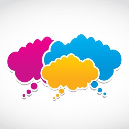 speak bubble: social media clouds