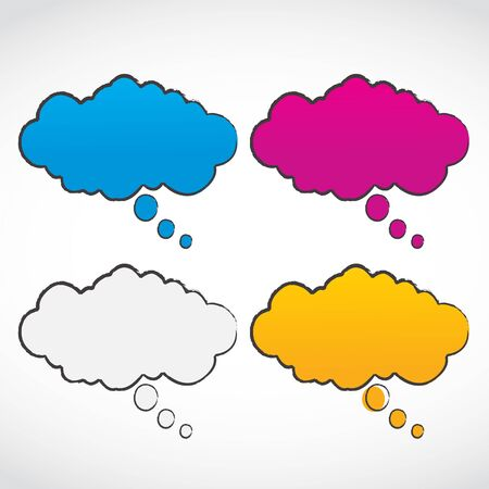 speech clouds set illustration Vector