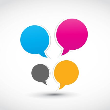 colorful speech dialog bubbles Vector