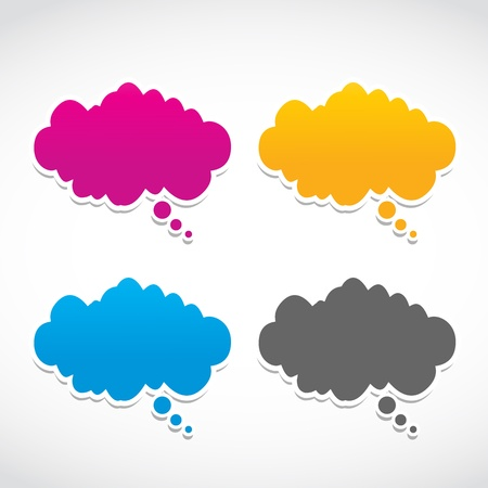 abstract dialog clouds set Stock Vector - 15874476