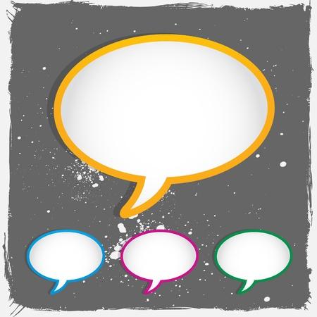 conversing: conversation speech bubbles Illustration