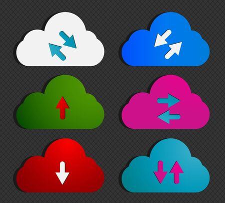 Social Media Computing Clouds Vector