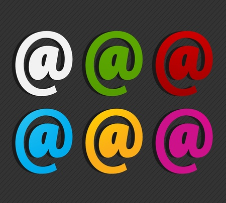 colorful email labels concept Stock Vector - 16024142