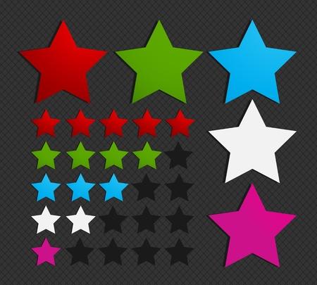 five star: colorful five star set illustration Illustration