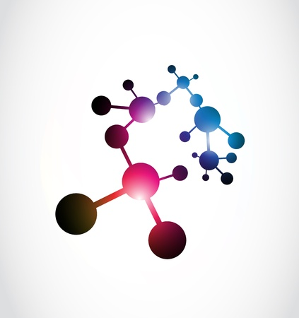abstract shiny molecule illustration logo Vector